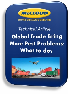 Global Trade bring more Pest Problems