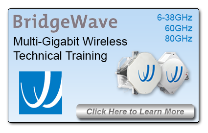 BridgeWave Multi-Gigabit Wireless Training